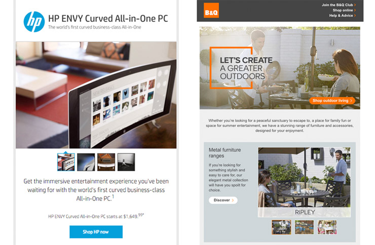Interactive carousels in email hp envy b q outdoor for Furniture quiz questions