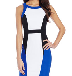 XOXO Womens Colorblocked Body Con Dress